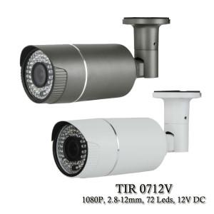Eyemax TIR-0712V HD-TVI 2MP Outdoor Bullet Camera, 2.8-12mm, 72 IR LED 12V DC