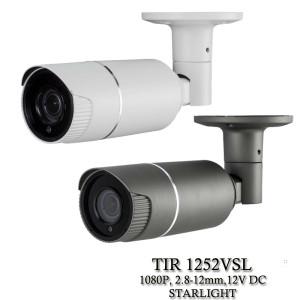 Eyemax TIR-1252VSL HD-TVI 1080P Outdoor Bullet Camera, 2.8-12mm, 12V DC