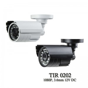 Eyemax TIR-0202 HD-TVI 1080P Outdoor Bullet Camera, 3.6mm, 12V DC