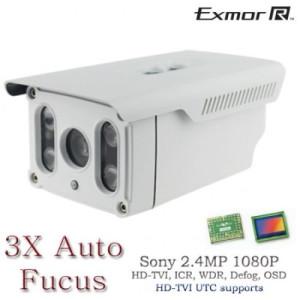 HD TVI Long Range IR Bullet Night Vision camera range upto 295FT 3x Auto Fucus Control by UTC 2.8-8mm