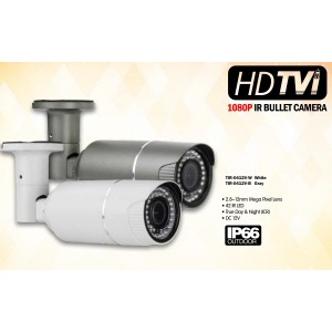 Eyemax TIR-0412V HD-TVI 2MP Outdoor Bullet Camera, 2.8-12mm, 42 IR LED 12V DC
