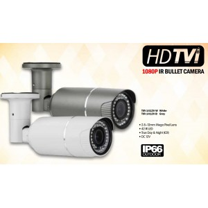 Eyemax TIR-1412V HD-TVI 2MP Outdoor Bullet Camera, 2.8-12mm, 42 IR LED 12V DC, Sense-up