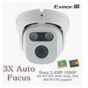 HD TVI In/Outdoor Eyeball Matrix IR Night Vision camera 3x Auto Fucus Control by UTC 2.8-8mm