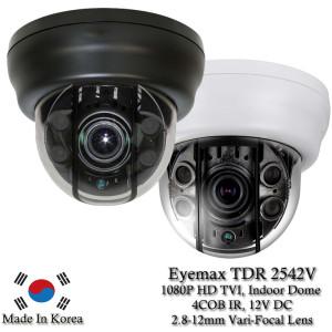 Eyemax Superdome Series Indoor IR Dome 1080P HD-TVI Camera TDR-2542V, 2.8-12mm 12V DC