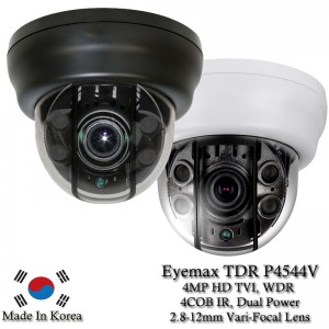 Eyemax Superdome Series Indoor IR Dome 4MP HD-TVI Camera TDR-P4544V, 2.8-12mm Dual Power