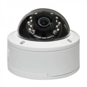 X Series 2.4MP Vandal Proof Dome IR Camera 2.8-12mm Dual Video Outputs IP66