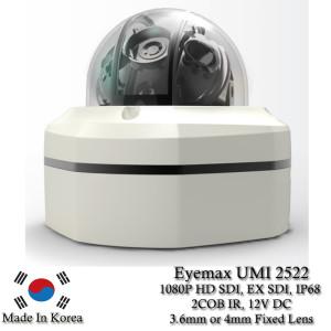 Eyemax Hammer Series UMI 2522 1080P HD-SDI, EX SDI Vandal DOME IR Camera 3.6mm 12V DC