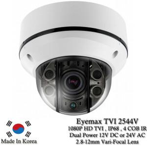 Eyemax Storm Series TVI-2544V 1080P HD-TVI Vandal DOME IR Camera 2.8-12mm Dual Power