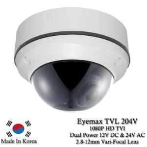 Eyemax Storm Series TVL-204-V 1080P HD-TVI Vandal DOME Camera 2.8-12mm Dual Power