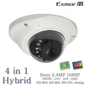 4 in 1 2.4MP 1080P Mini Vandal IR Camera HD SDI, HD EX-SDI, HD CVI OSD DWDR UTC 3.6mm BL-CSS12
