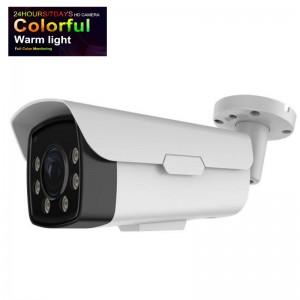 Full Color Night View Long Range Bullet HD camera 6mm zoom Fixed Lens 1080P to 5MP Changeable Lights upto 196FT