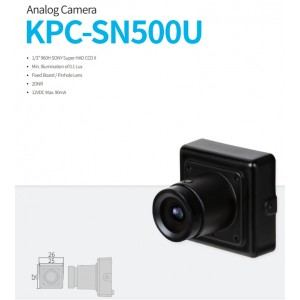 KPC-SN500U 960H Super Miniature Camera 12VDC 25mm x 25mm replacement of KPC-VSN500NH