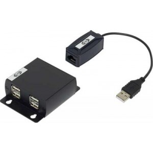 Cat5 to USB Extender Upto 150FT 4 Port USB