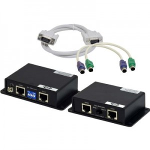 Cat5 to VGA,Mouse,Keyboard Extender Over 300FT Built-in Amplifiers