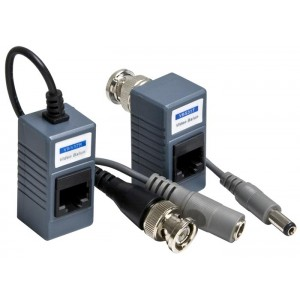 Cat5 Plug Video Balun with Connectors ( 1 Pair )