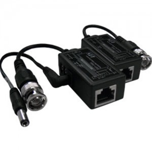 Cat5 to BNC Video Converter Balun Audio or Data and Power,Video