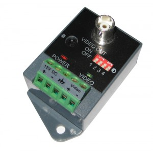 Active Cat5 to BNC Converter Video Balun Receiver