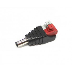 2.1mm power male plug pigtail press fit type