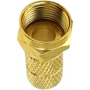 F Connector Gold Copper Twist-on RG-6