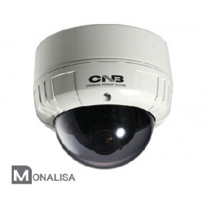 CNB VCM-24VF Outdoor Dome Camera, MONALISA 600 TVL, 2.8~10.5mm Lens, True Day/Night, Dual Mount , Dual Power