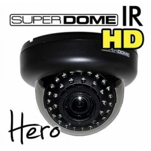 Eyemax ID-6135V Hero Chipset Super Dome HD IR 650TVL WDR Color Camera Dual Power Optional