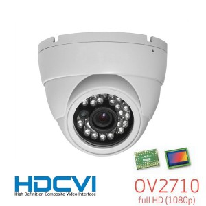 HD-CVI CCTV In/Outdoor Eyeball Dome IR Camera, HD 1080P Image 24 Leds 3.6mm