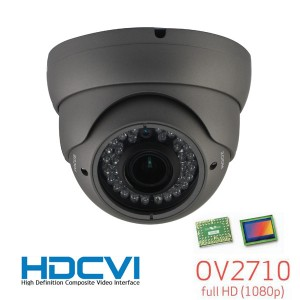 HD-CVI CCTV In/Outdoor Eyeball Dome IR Camera, HD 1080P Image 36 Leds 2.8-12mm