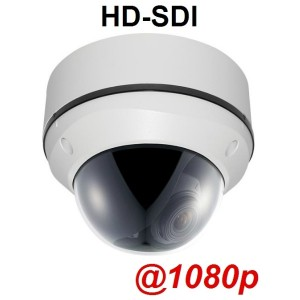 HD-SDI Outdoor Dome camera: 2 Megapixel Full HD 1080p image, 2.8~12mm Lens, 1000 TVL, OSD, WDR
