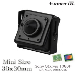 Mini HD TVI 2.1MP sony exmor starvis low light 1080P square cctv camera 3.7mm pinhole OSD