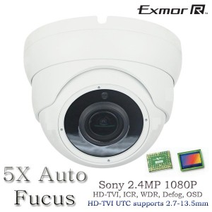 HD TVI In/Outdoor Eyeball Night Vision camera 5x Auto Fucus Control by UTC 2.7-13.5mm