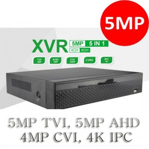 4CH XVR Series CCTV 5 In 1 Hybrid HD Analog DVR System Supports 5MP TVI, 4K IPC P2P