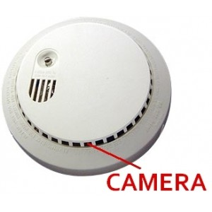 Smoke Detector CCTV Camera EX SDI, HD SDI 1080P 4.3mm Hidden Camera 12V 960H