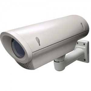 HO 619HB - Standard Plastic Camera Housing with Heater/Blower, 16 inch Long, Cable Pass-through Metal Mount Included