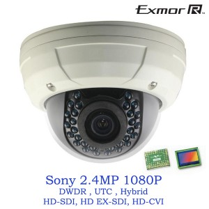 Tribrid HD 2.4MP 1080P Vandal dome Camera HD SDI, HD EX-SDI, HD CVI OSD DWDR UTC 2.8-12mm