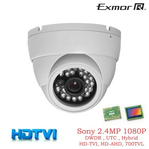 Tribrid HD TVI 1080P Camera 2.4MP HD TVI, HD AHD, Analog 960H 700TVL OSD DWDR UTC 3.6mm