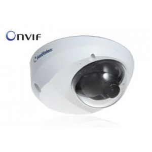 GEOVISION 2 Megapixel Network IP Camera: Full 1080p HD Mini Dome, 2.54mm WIDE lens, Mic, PoE