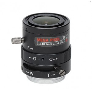5 mega pixel DC manual Iris CCTV Mega Pixel Lens 3.3-10.5mm Vari Focal IR Corrected
