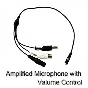 CCTV External Amplified Microphonewith valume control, very small size! DC 12V