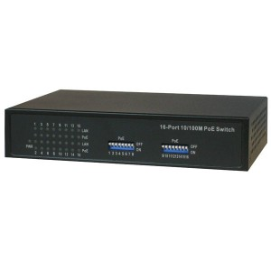 POE-SW1600E 16-Port 10/100 Base-T(x) PoE Switch