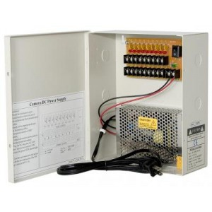 Power Supply Distribution Box - 12V DC 9 channels 5 Amps, Resettable PTC Fuse
