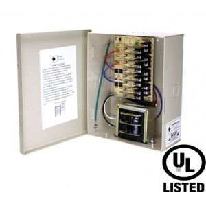 B-TRON Power Distribution Box 12V DC Regulated 8 outputs 4 Amps UL Listed, Fused