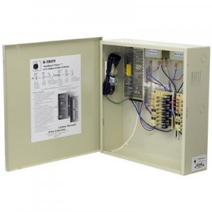B-TRON Power Distribution Box 12V DC Or  24V AC Dual Regulated 8ch 8 Amps UL Listed