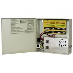 Power Supply Distribution Box - 12V DC 16 channels High Output 30 Amps, Resettable PTC Fuse