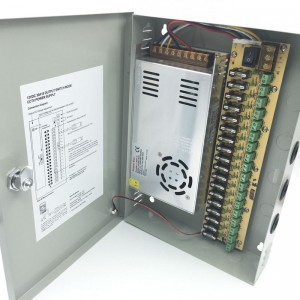 Power Supply Distribution Box Compact Size - 12V DC 16 channels High Output 30 Amps, Fused