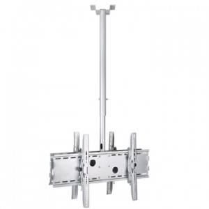 Dual mountable ceiling mount for large lcd led plasma screens