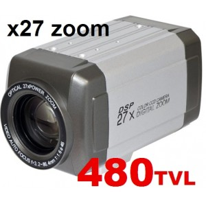 CCTV Box Type Day/Night All In One 27X Zoom CCTV Camera Sony CCD High-Resolution