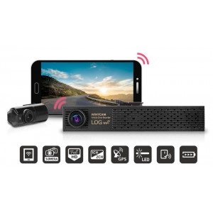 WinyTech 1080P Wi-Fi Car Black box dash cam HD wide Angle Dual cameras