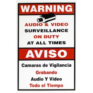 Warning sign In English and Spanish 11/18""