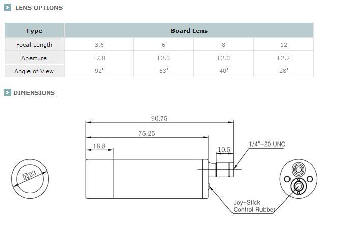 KTnC KPC-EJ230NUWX Bullet Camera dimensions