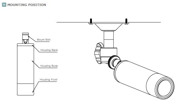 KTnC KPC-EJ230NUWX Bullet Camera mounting positions